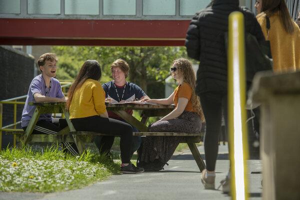 Photo by Guy Harrop. Pic of Petroc college students, Devon  image copyright guy harrop info@guyharrop.com 07866 464282