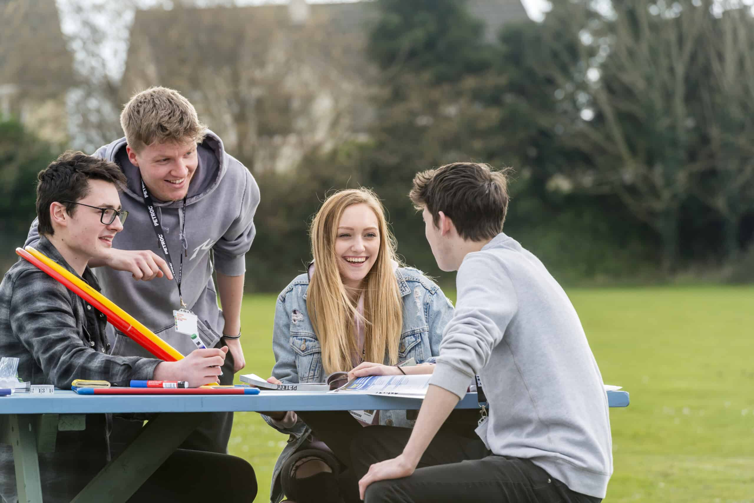 Photo by Guy Harrop. Pic of students at Petroc College  image copyright guy harrop info@guyharrop.com 07866 464282